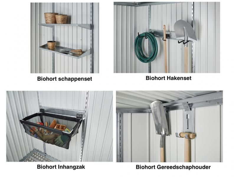 biohort europa 3 kwartsgrijs metallic biohort metalen bergingen igarden. Black Bedroom Furniture Sets. Home Design Ideas